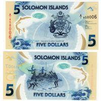 Соломоновы острова. 5 долларов 2019 [UNC]