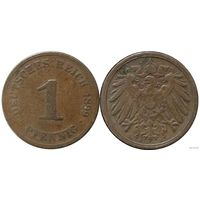 YS: Германия, Рейх, 1 пфенниг 1899A, KM# 10 (2)