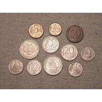 Лот из 11 монет Банка России 1992 - 1993 гг.