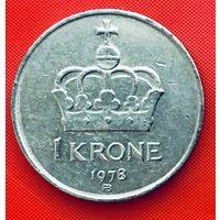 13-15 Норвегия, 1 крона 1978 г.