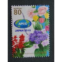 Япония 2010 г. Цветы.