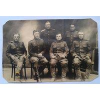 Групповое фото офицеров. 8.5х13 см