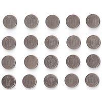 Бельгия, 1 франк. Belgiё и Belgique. ПОГОДОВКА, монеты без повторов 1952-1988