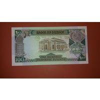 Банкнота 100 фунтов Судан 1989