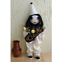Текстильная кукла Пьеро#Ручная работа