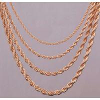 Красивая витая цепочка, цвет  под золото, длина 63+8см