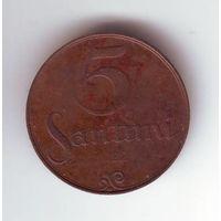Латвия. 5 сантим 1922 г.