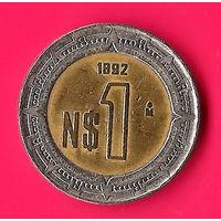 21-46 Мексика, 1 песо 1992 г.