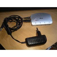 Хаб (разветвитель) USB 2.0 с дополнительным питанием и блоком питания