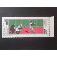 Мексика 1989 Бейсбол сцепка Mi-7,0 евро