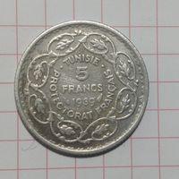 Тунис 5 франков.1939г протекторат