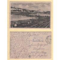 Гродна - Нямецкія салдаты будуюць мост. Фельдпошта 2.10.1915