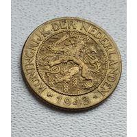 Суринам 1 цент, 1943 Латунь 1-15-4