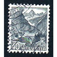 56: Швейцария, почтовая марка, 1936 год, номинал 40с, SG#379A