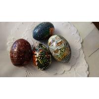 Яйца пасхальные деревянные( 5штук)