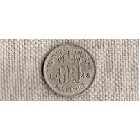 Великобритания 6 пенсов 1948(Oct)
