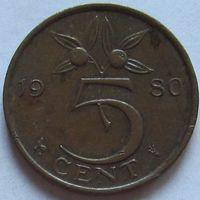 Нидерланды, 5 центов 1980 г