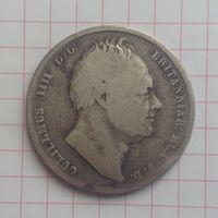 1/2 кроны 1836г Вритания.