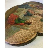Икона Святая Троица. Размер 33/30,5 см. 19в.