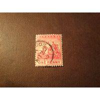 Барбадос 1892/1905 гг.Печать колонии.