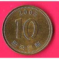 47-27 Южная Корея, 10 вон 2005 г.