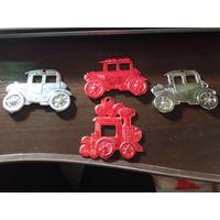 Ёлочные игрушки СССР, монета для размера
