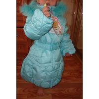 Зимнее фирменное пальто Кико 98-110 размер
