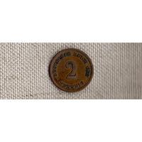 Германия 2 пфеннига 1875 A (Ab)