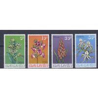 [1470] Малави 1975. Флора.Цветы.Орхидеи. 4 МАРКИ+БЛОК.