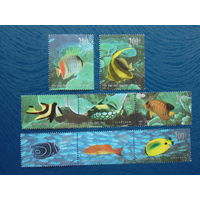 Китай 1998г. Морская фауна.