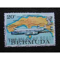 Бермудские острова 1975 г. Авиация.