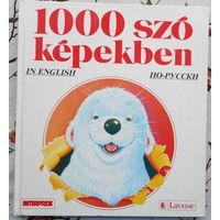 1000 слов с каринками для детей русско-английский . Иллюстрации Катрин Нувель . Большой формат