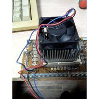 Переходник Slot 1 -> Socket 370 c процессором Celeron 450 и кулером