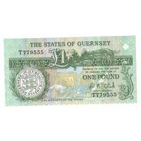 Гернси 1 фунт 1991 г. UNC
