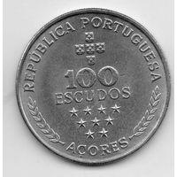 АВТОНОМНЫЙ  РЕГИОН АЗОРЫ /АСОРИШ/ 100 ЭСКУДО 1980. РЕДКОСТЬ