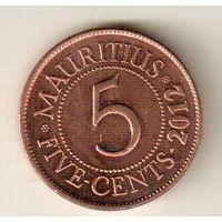 Маврикий 5 цент 2012