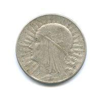 10 злотых 1932 года (королева Ядвига). Серебро. Без МЦ!