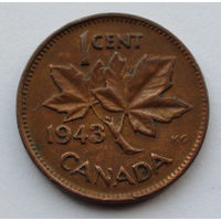 Канада 1 цент. 1943