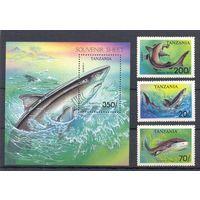 Рыбы Танзания Блок + 7 марок