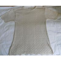 Джемпер ажурный трикотажный (кофточка), размер 48-50, рост 170