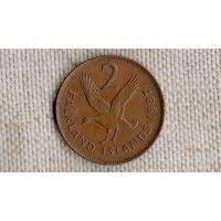 Фолклендские острова 2 пенса 1987/фауна/гусь/(NS)