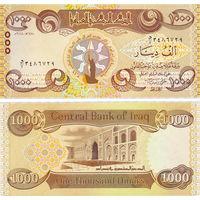 Ирак  1000 динар   2018 год   UNC  (новинка)
