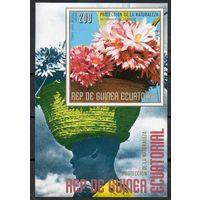 Флора Цветы Африки Экваториальная Гвинея  1976 год 1 блок (М)
