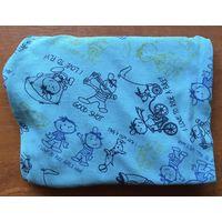 Детские новые бирюзово-синие блестящие светящиеся с фиолетовым отливом с красивыми детскими рисунками пижамные штаны для мальчика от 4 до 6 лет