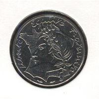 Франция 10 франков 1986 г. Мадам Республика.