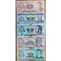 Набор банкнот 5 шт - 1,2,5,10,20 лемпир - Гондурас 2012-2016 - UNC