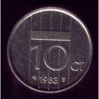 10 центов 1983 год Нидерланды