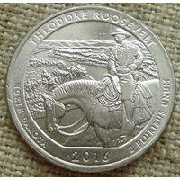 25 центов 2008 США - Теодор Рузвельт