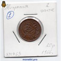 2 цента Австралия 1966 года (#1).