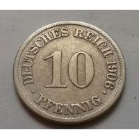 10 пфеннигов, Германия 1906 A